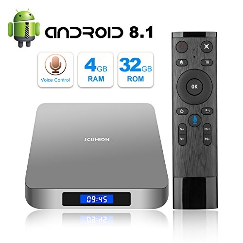 CZW Android 8.1 TV Box with Voice Remote